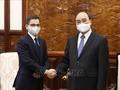 Presidente vietnamita recibe al embajador indio