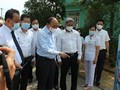 Presiden Nguyen Xuan Phuc Memeriksa Pekerjaan Pencegahan dan Penanggulangan Wabah Covid-19 di Kota Da Nang