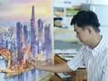 Kota Ho Chi Minh Berindah Luar Biasa dan Ramai Lalui Lukisan Cat Air dari Pelukis Muda Doan Quoc