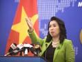 베트남, 베트남 동해에 대한 주권 침해 행동을 강력히 반대