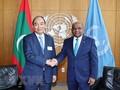 응우옌 쑤언 푹 국가주석, 유엔총희 의장 및 유엔 사무총장 면담
