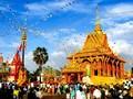Khmer celebrate Chol Chnam Thmay Festival