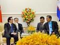 Hoang Binh Quan au Cambodge pour parler du succès du 12e congrès du PCV
