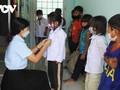 ダクプシ村での生徒の登校を支援する様々な活動
