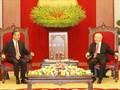 チョン党書記長 中国の王毅国務委員兼外相と会見
