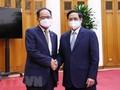 越南政府总理范明政会见韩国驻越南大使朴能运