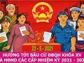 Các địa phương tổ chức tiếp xúc cử tri vận động bầu cử phù hợp với yêu cầu phòng, chống dịch COVID-19