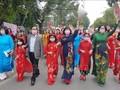 """ฮานอยเชิดชูชุดประจำชาติอ๊าวหย่ายในเทศกาล """"สีสันจ่างอาน"""""""
