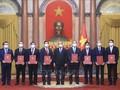 """บรรดาเอกอัครราชทูตและหัวหน้าสำนักงานตัวแทนเวียดนามในต่างประเทศส่งเสริมเกียรติประวัติ """"การทูตที่ซื่อสัตย์ ใจประสานใจ"""""""