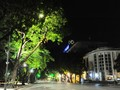 A silent Hanoi by night as social distancing in effect