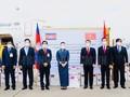Tiếp nhận hỗ trợ do Chính phủ và nhân dân Campuchia ủng hộ công tác phòng, tránh dịch COVID-19