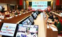 Kedokteran militer negara-negara ASEAN mengadakan latihan mekanisme mencegah dan memberantas wabah Covid-19 secara online