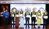 Acara penyampaian Penghargaan Bola Emas tentang sains teknologi di kalangan muda