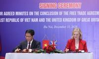 Vietnam dan Kerajaan Inggris Resmi Menandatangani Perjanjian Perdagangan Bebas