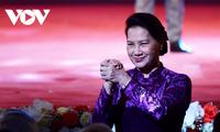 "Ketua MN Nguyen Thi Kim Ngan Menghadiri Acara Menyampaikan Hadiah Penghargaan Pers ""75 Tahun MN Vietnam"""