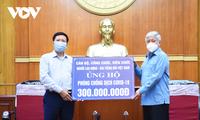 VOV Berikan Keuangan sebesar 300 Juta VND untuk Dukung Dana Pencegahan dan Penanggulangan Wabah Covid-19