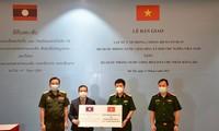 Kemenhan Vietnam Berikan Materi Kesehatan kepada Kemenhan Laos