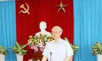 El secretario general del PCV chequea tareas en la provincia de Đồng Nai