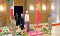 Máximo líder político de Vietnam termina su periplo por Indonesia y Myanmar