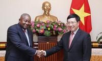 Vize-Premierminister, Außenminister Pham Binh Minh empfängt den mosambikanischen Botschafter