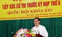 Vicepremier cumple el programa de contacto electoral en la provincia de Ha Tinh