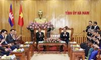 Jefe parlamentario de Camboya continúa visita de trabajo en localidad norteña de Vietnam