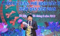 Reconocen obras más destacadas de teoría y crítica de literatura y artes de Vietnam de 2018