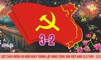 Partidos políticos del mundo siguen felicitando al Partido Comunista de Vietnam por 90 años de su fundación