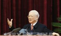 Máximo líder de Vietnam llama a la solidaridad nacional frente al Covid-19