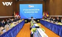 Concluye la conferencia de ministros de la Asean sobre la prevención y la lucha contra los crímenes transnacionales