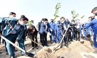 Fuerzas de Seguridad Pública de Hanói contribuyen a teñir de verde la capital