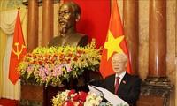 El máximo líder de Vietnam preside la reunión del Buró Político del Partido Comunista