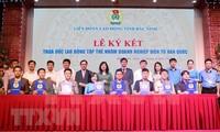 Firman convenio colectivo de trabajo entre empresas surcoreanas y trabajadores vietnamitas