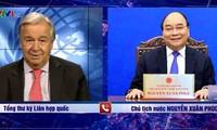 El presidente de Vietnam felicita al reelecto secretario general de las Naciones Unidas
