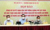 Vietnam acelera el desembolso de la asistencia para las personas afectadas por el covid-19