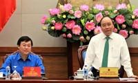 Premier vietnamita se reúne con dirigentes de la Juventud Comunista
