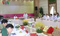 Líder partidista de Vietnam se reúne con las autoridades de Dong Thap