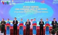 El primer ministro inaugura la Terminal Internacional de Contenedores de Hai Phong