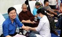 Más actividades de donación de sangre en Vietnam