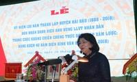 Conmemoran 130 aniversario de la fundación del distrito de Hai Hau en la provincia de Nam Dinh