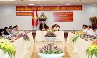 Presidenta de la Asamblea Nacional trabaja con los líderes de Gia Lai
