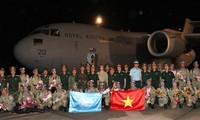 Retornan al país misioneros vietnamitas de mantenimiento de la paz de la ONU