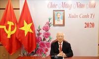 Máximo líder político de Vietnam felicita al pueblo chino en ocasión del Año Nuevo Lunar 2020