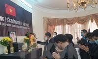 Embajadas de Vietnam en el extranjero rinden tributo póstumo al exdirigente Le Kha Phieu