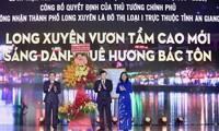 Long Xuyen es oficialmente ciudad de clase I de la provincia de An Giang
