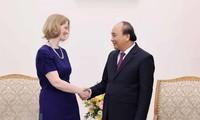 Primer ministro vietnamita recibe a embajadora saliente de Nueva Zelanda