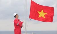 Ceremonia de izado de bandera de una empresa vietnamita bate récord mundial