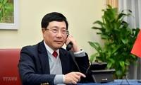 Canciller vietnamita mantiene conversación telefónica con el secretario de Estado de Estados Unidos