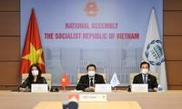 Vietnam asiste a la reunión virtual de la UIP sobre cuestiones de paz y seguridad