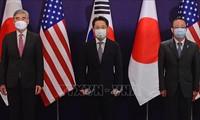 Estados Unidos, Japón y Corea del Sur acuerdan continuar trabajando en la desnuclearización de Corea del Norte